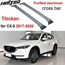 Engrossar barra transversal da cremalheira do telhado da barra transversal da bagagem para mazda CX 5 2017 2018 2019 2020, engrossar a liga de alumínio, recomended forte.
