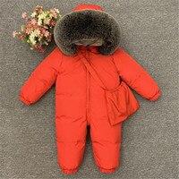 2019 New Russia Winter Baby Rompers Overalls Toddler Boys Girls Thicken Warm Down Jumpsuit Kids Coat Jacket Children Snowsuit