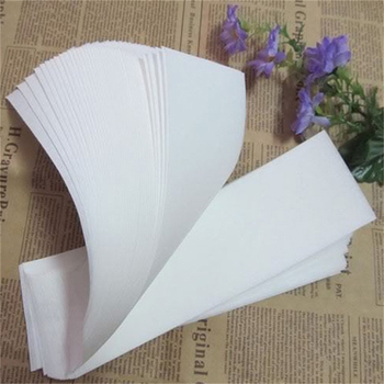 Specjalny gruby włóknina wosk do depilacji depilacja woskiem papier woskowany do papieru biały 100 sztuk wosk do depilacji do depilacji tanie i dobre opinie CN (pochodzenie) 886062 Wax strip pinceaux maquillage maquiagem brochas maquillaje