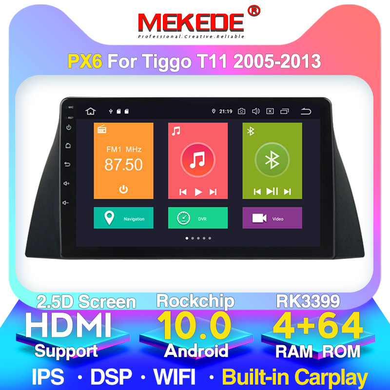 MEKEDE M400 For Chery Tiggo T11 1 2005 2012 2013 Car Radio Multimedia Video Player Navigation GPS Android 10 No 2din 2 din dvd(China)