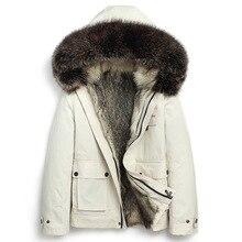 Seveyfan, мужское пальто с натуральным мехом, зимняя парка с капюшоном, натуральный мех, утолщенная теплая куртка, ветровка, пальто для мужчин 540