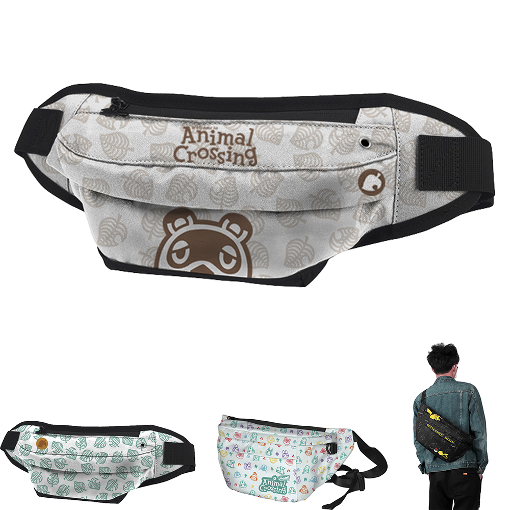 WAWNI Animal Crossing Bum Bag Women Belt Bag Crossbody Bags For Men Funny Pack Travel Purse Pouch Pocket Anime Accessories