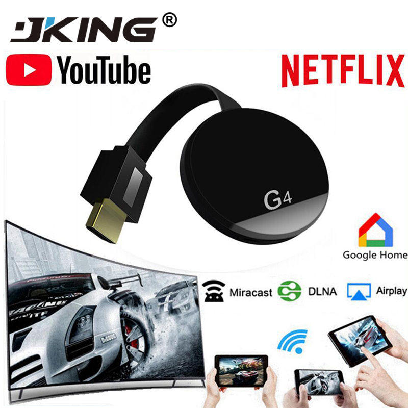 HDMI Wireless Display Wecast G4 for Android iOS YouTube Google Chrome Airplay Support 4G Cellular Data Casting Media TV Stick image