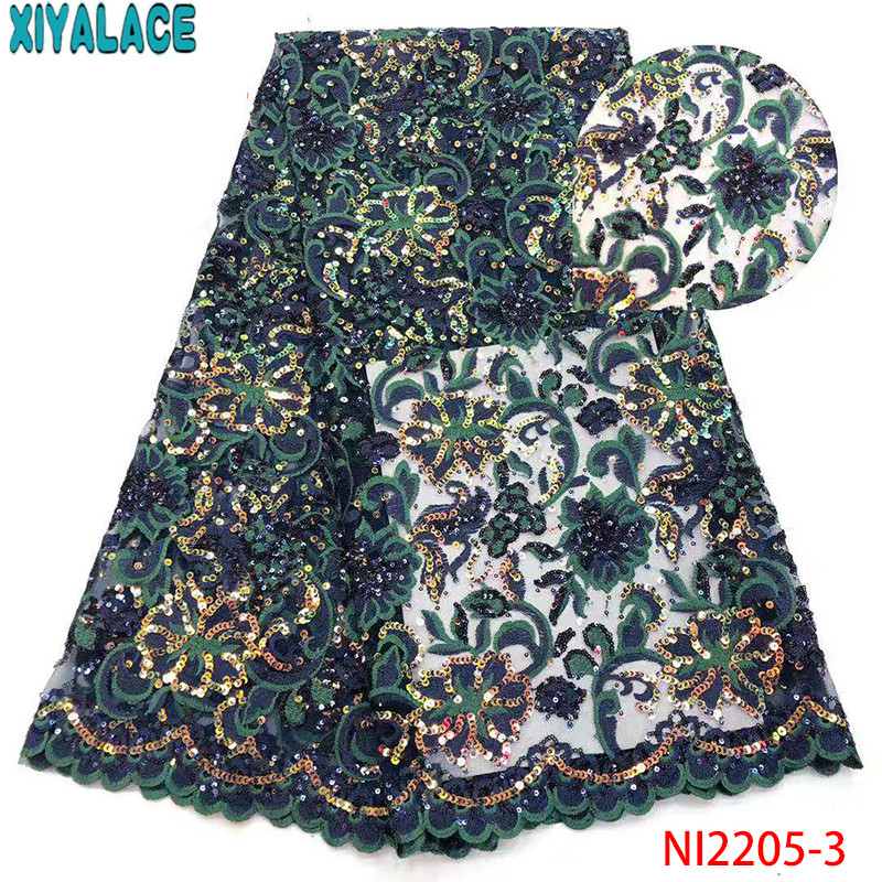 Latest Tulle Fabrics Lace 2019,High Quality African Lace Fabrics,Nigeria Lace Fabric For Wedding Dresses KSNI2205-3