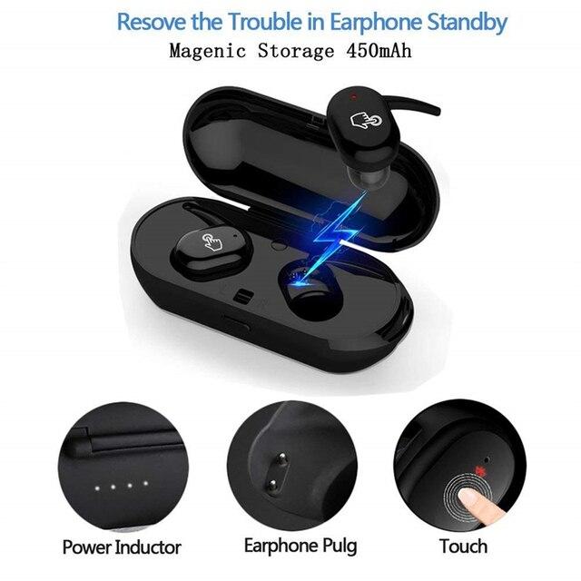 Auriculares inalámbricos Y30 TWS 5,0, con cancelación de ruido, sonido estéreo, música, intrauditivos, para Android IOS y teléfono inteligente 4