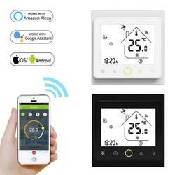 95 ~ 240 В WiFi умный термостат регулятор температуры для воды Электрический пол Отопление газовый котел работает с Alexa Google Home