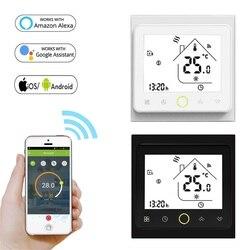 95 controller 240 v wifi inteligente termostato controlador de temperatura para água piso elétrico aquecimento caldeira a gás funciona com alexa casa do google