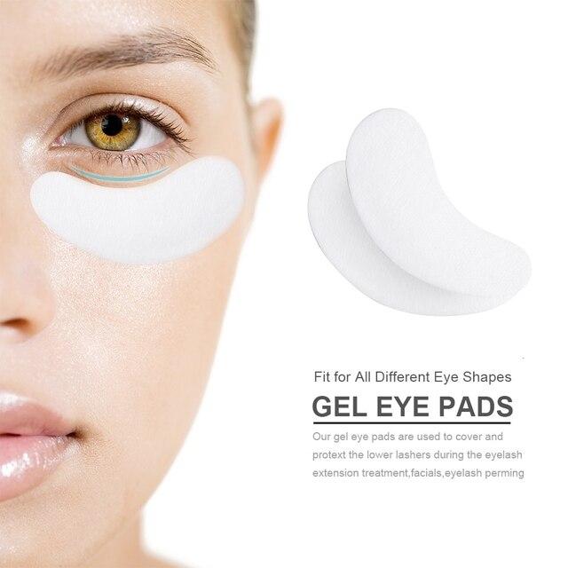DORADOSUN 50 Pairs Eyelash Pad Grafting Eyelashes Under Eye Gel Patches Eyelash Extension Sticker Wraps Makeup Tools 5