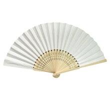 Бамбуковая ткань ручной вентилятор, твердый вентилятор с подарочной коробкой, Свадебный китайский бамбуковый тканевый ручной вентилятор свадебные подарки для гостей