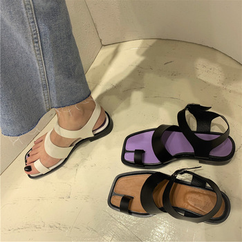 Genuine Leather Female Shoes Gladiator Sandals Women 2020 Sandal Woman Flats Summer Shoes Woman Sandals Lady Sandles Women Shoe 2019 gladiator women sandals wedges high heels sandals spring summer brown black female shoes casual lady shoes woman footwear