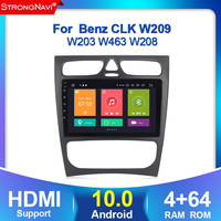 2 Din Android 10 Car Multimedia Player For W203 Mercedes Benz Vito W639 W168 Vaneo Clk W209 W210 M/MLRadio Audio Navigation
