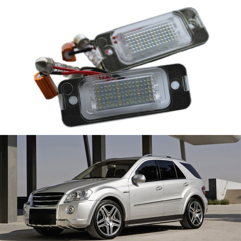 2X Car Led License Plate Light License Plate Light For Mercedes-Benz W163 W164 X164 ML GL
