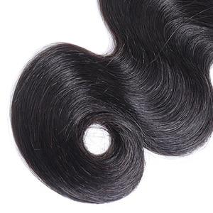 Image 5 - Panse Hair mechones de cabello ondulado malasio, 100% de cabello humano no Remy, extensiones de cabello humano de Color 1B, 1 Uds.