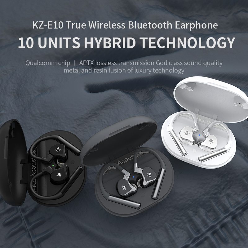 Image 3 - KZ E10 TWS Wireless Earphones Bluetooth 5.0 Earphones Hybrid HIFI Bass Earbuds Headset Sport Noise Cancelling Earphones-in Earphones from Consumer Electronics
