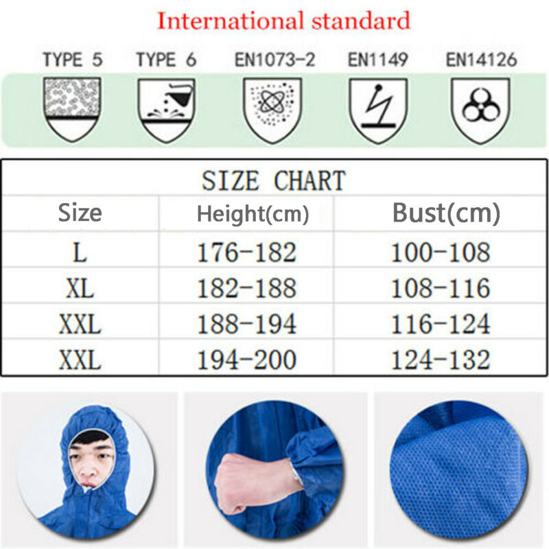 Reusable and Full Body Coverall Medical Protective Clothing for Protection from Viruses and Bacteria 2