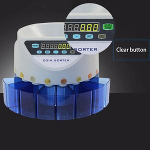 Electronic Coin Sorter Coin Counter Counting Machine Custom Display The Total Value And Quantity 8 Currency Containers(China)