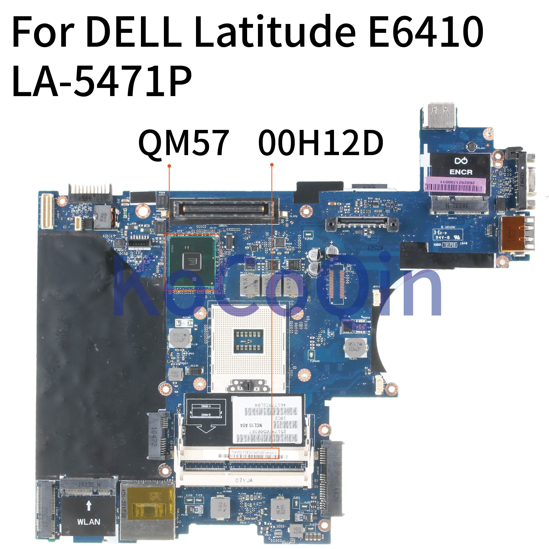 KoCoQin laptop Motherboard For DELL Latitude E6410 Mainboard CN-00H12D 00H12D LA-5471P QM57