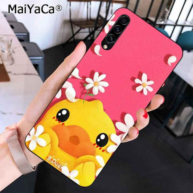MaiYaCa น่ารักเป็ดสีเหลืองสัตว์การออกแบบที่ไม่ซ้ำกันกรณีโทรศัพท์สีดำสำหรับ Samsung A10 20 S 71 51 10 S 20 40 50 70 A9 2018
