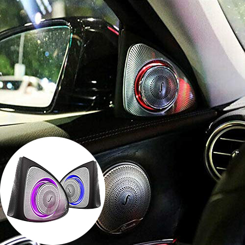 รถภายใน 64 สี LED Ambient Light 3D โรตารี่ลำโพงทวีตเตอร์สำหรับ Mercedes-W213 E Class E200L E300L (w213)