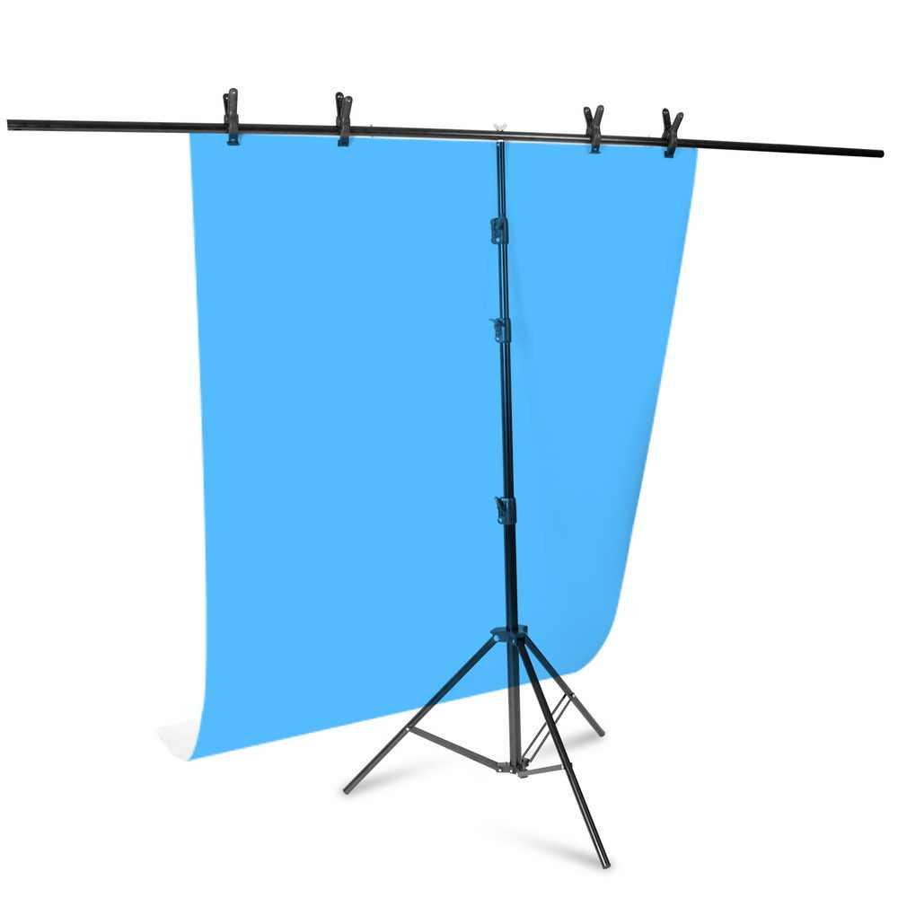 المهنية التصوير خلفية الصورة تقف T-شكل إطار الخلفية نظام دعم تقف مع المشابك لاستوديو الفيديو