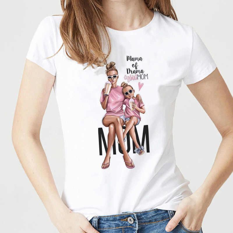 Super Mama เสื้อยืดผู้หญิงแม่รักพิมพ์เสื้อยืดสีขาว TEE เสื้อ Femme ฝ้าย Vogue T เสื้อ Tops Streetwear เสื้อผ้า