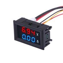 Universal DC 100V 10A Voltmeter Ammeter Red LED Amp Volt Meter Gauge Analog Volt Ammeter Blue Red Dual Displal Car home Tool