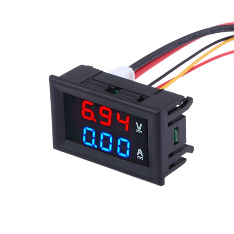 Universal DC 100V 10A Voltmeter Ammeter Red LED Amp  Volt Meter Gauge Analog Volt Ammeter Blue Red Dual Displal Car Home Tool