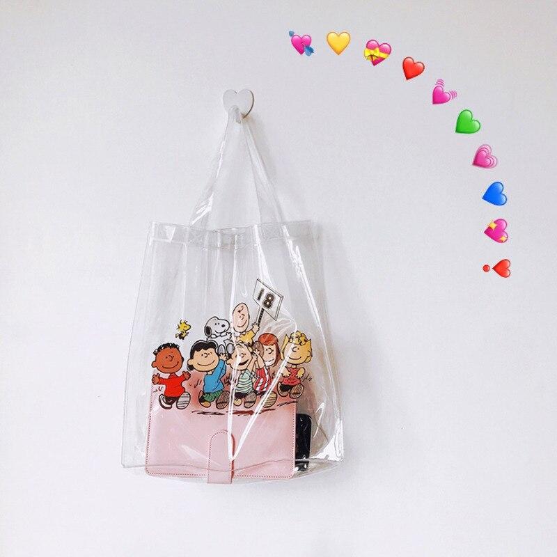 Cheng Pin Ins Rogue Dog Colorful Pattern Popular Fashion Beach Bags Pencil Bag Waterproof Totes Handbag Document Bag 1