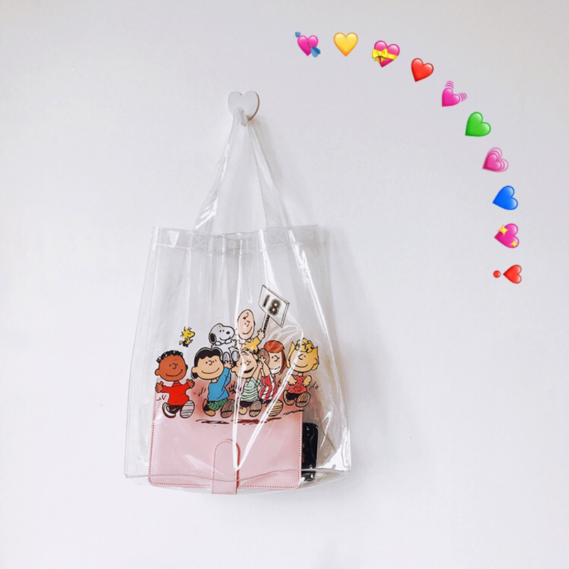 Cheng Pin Ins Rogue Dog Colorful Snoppy Pattern Popular Fashion Beach  Bags Pencil Bag Waterproof Totes Handbag Document Bag