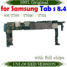 Oryginalny pełna praca odblokować płyty głównej obwody dla Samsung Galaxy Tab S 8 4 T700 T705C T705 WIFI elektroniczny Panel tanie tanio TDHHX Wewnętrzny For Samsung Galaxy Tab S 8 4 motherboard Original Disassemble Unlocked and used In Stock Shenzhen Guangdong China(mainland)