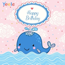 Yeele Birthday Party Photocall Whale Sea Waves Decor Photography Backdrops Personalized Photographic Background For Photo Studio