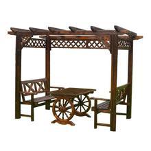 Chair House Trellis Wooden Garden Furniture Vine Grape Flower Pavilion Courtyard-Table
