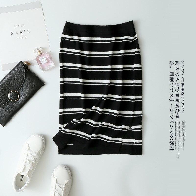 #1820 Skirt Viscose High-waisted Skirt Knitted Yarn Step A- Line Skirt Children Thin