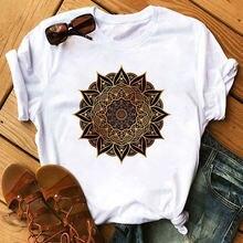 Женская рубашка с принтом мандалы verano mujer свободная эластичная