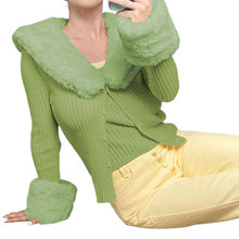Y2k свитера с v образным вырезом комплекты перо заплатками Вязанная
