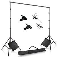 Kit de sistema de soporte de fondo fotográfico para fondo de estudio de fotografía