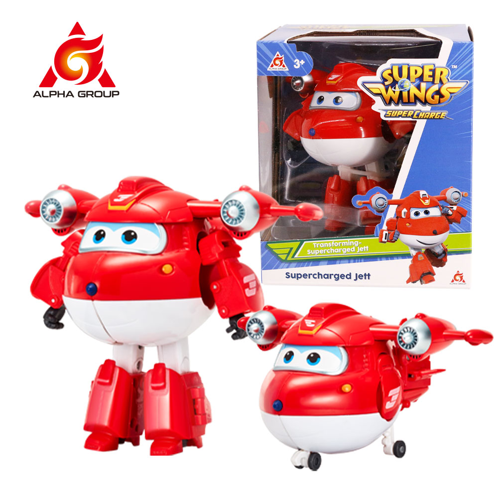 Super Wings 5 BIG SIZE Deformation Transforming Scale Airplane Robot Action Figures Dizzy Astra Donnie Transformation Toys