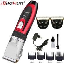 Baorun Professional Hair Trimmer Rechargeable Men S Hair ClipperตัดผมEU Plug