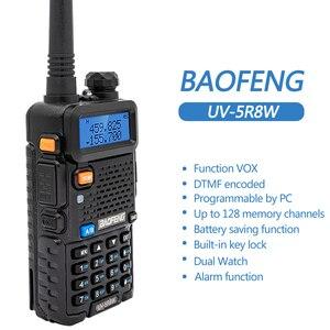 Image 4 - 2 adet Baofeng UV 5R 8W Walkie Talkie UV5R CB radyo istasyonu 10KM VHF UHF Dual Band UV 5R iki yönlü telsiz avcılık için Ham radyolar