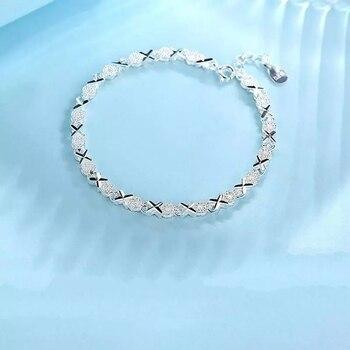 925 Sterling Silver Zircon Cross bracelet 3