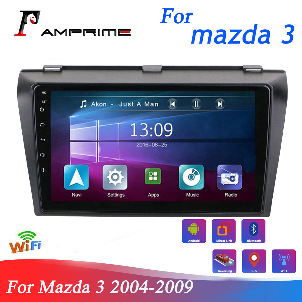 AMPrime Car Multimedia player android 8.1 Car-Radio For <font><b>Mazda</b></font> <font><b>3</b></font> 2004-2009 Car GPS Stereo 1G 32G WIFI Quad Core Car Touch Screen image