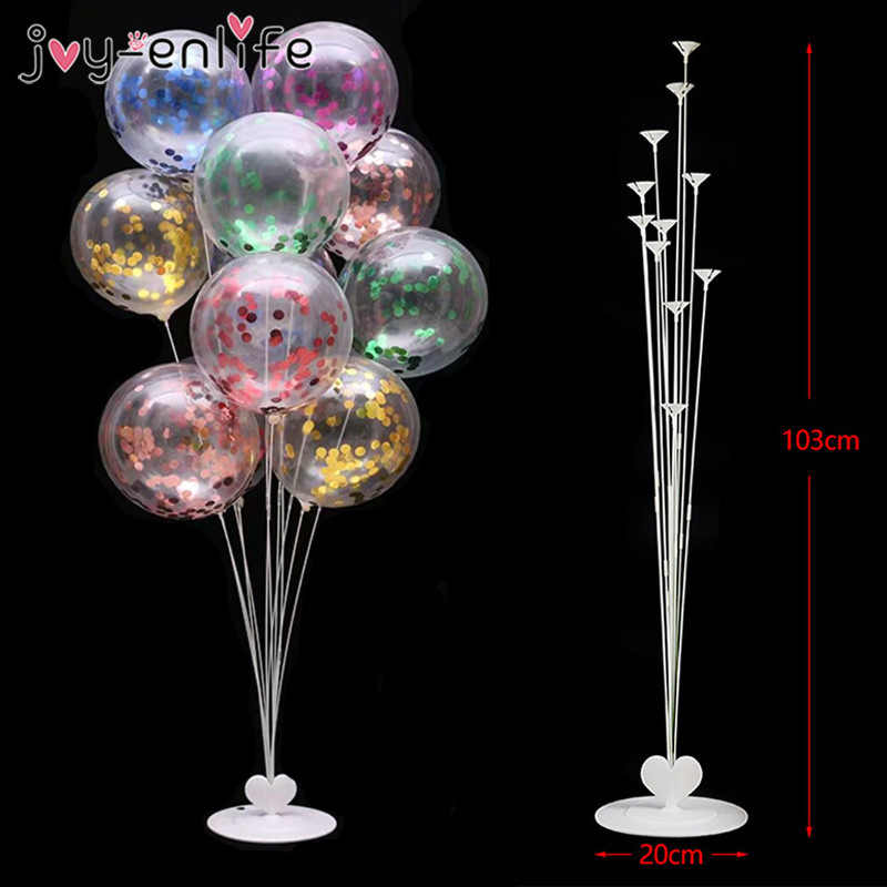 11Tubes Balloons Stand Balloon Holder Column Wedding Party Decoration Confetti Balloon Kids Birthday Party Baby Shower Supplies