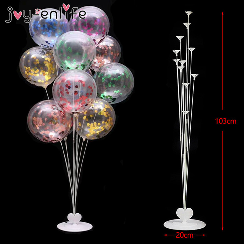 11Tubes Balloons Stand Balloon Holder Column Wedding Party Decoration Confetti Balloon Kids Birthday Party Baby Shower Supplies