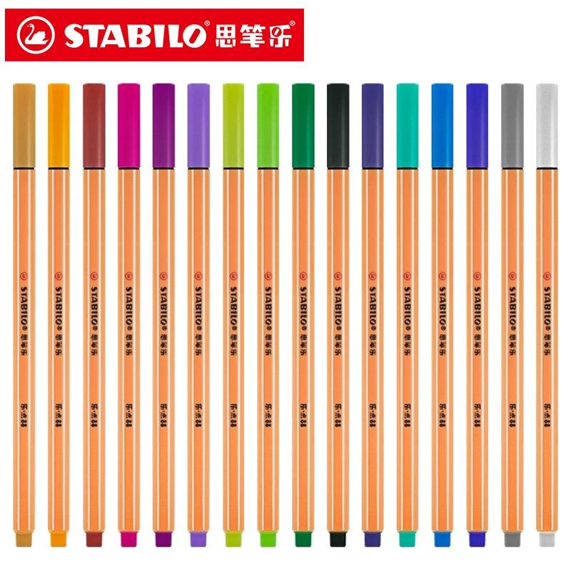 5 Pcs Stabilo 88 Canetas De Fibra Colorida Desenho Caneta Escola