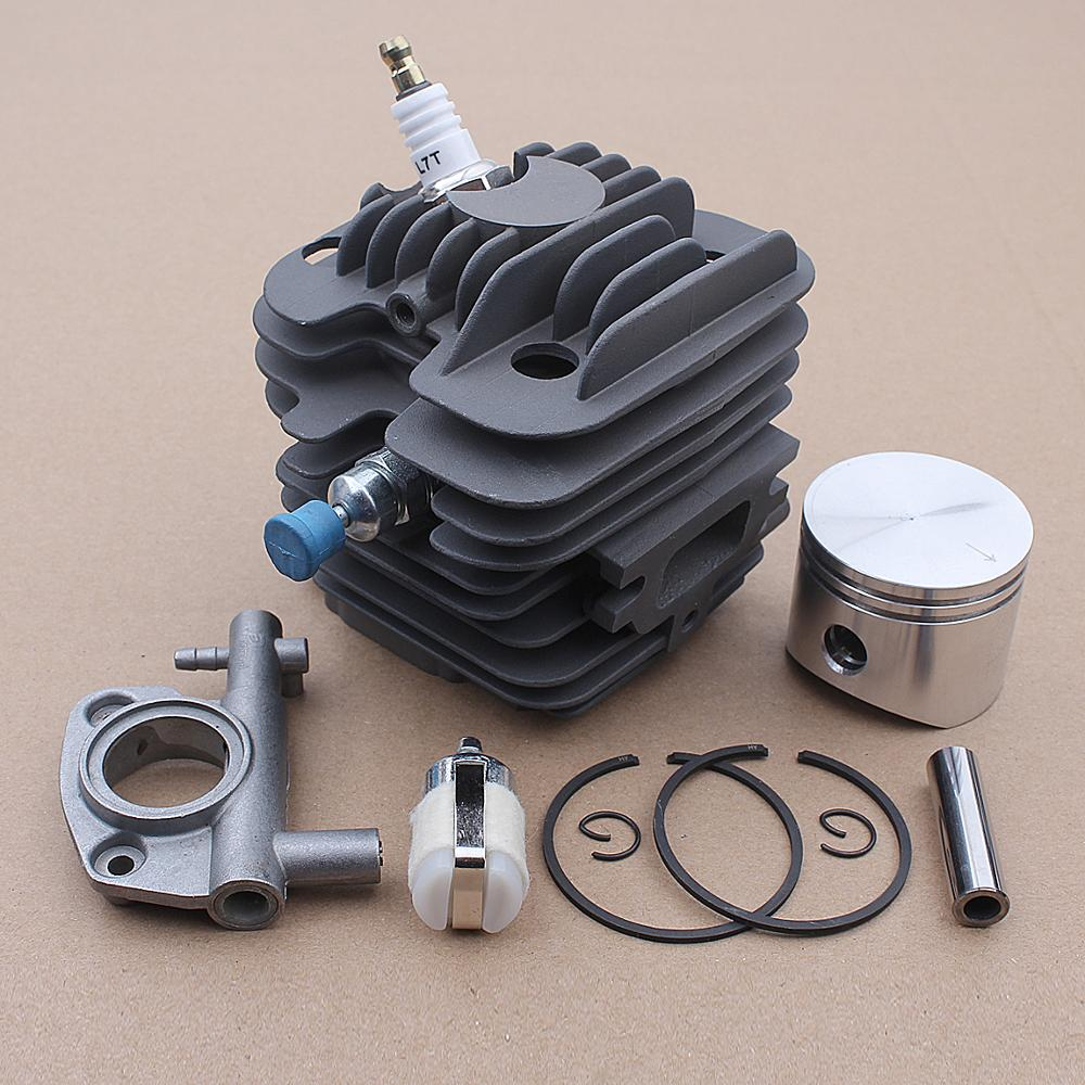 45mm Cylinder Piston Pin Oil Pump Kit For Oleo-Mac 952 Master Chainsaws Part Spark Plug 50082012