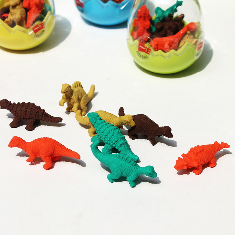 Pencil Eraser Cute Creative Random Dinosaur Egg Drawing Cleaning Correction Tool Writing Cleaner Rubber Stationery Students