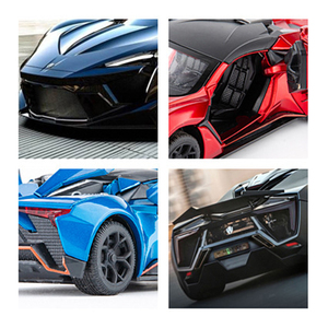 Image 4 - 1:32 Lykan Hypersport Alloy Car Model Diecasts & Toy Vehicles Toy Car Metal Collection Toy Kid Toys for Children Kids Gifts