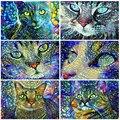 MomoArt Алмазная вышивка кошки вышивка крестом наборы 5D DIY Алмазная мозаика животные картина стразы декор для дома