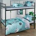 3 шт./компл. простой Стиль полиэстер Постельное белье общежитие постельное Бель комнате Уютный Постельное белье для студентов