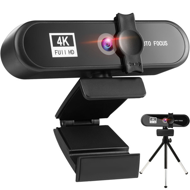 In Stcok 2K 4K Conference PC Webcam Autofocus USB Web Camera Laptop Desktop For Office Meeting Home With Mic 1080P HD Web Cam 1